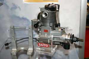 Saito FG-20 spark ignition gasoline four stroke engine